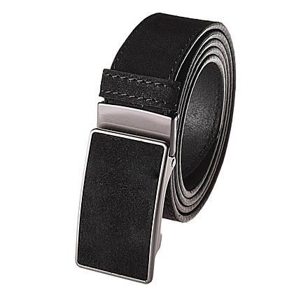Натуральная кожаный мужской ремень JK Черный (MZ354010101), фото 2