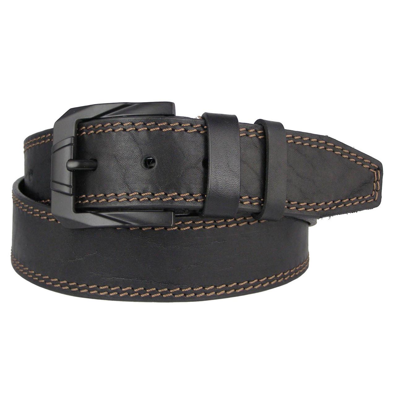 Натуральная кожаный мужской ремень JK Черный (MC451018320)