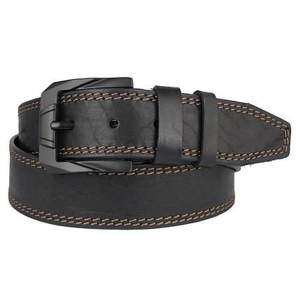 Натуральная кожаный мужской ремень JK Черный (MC451018320), фото 2