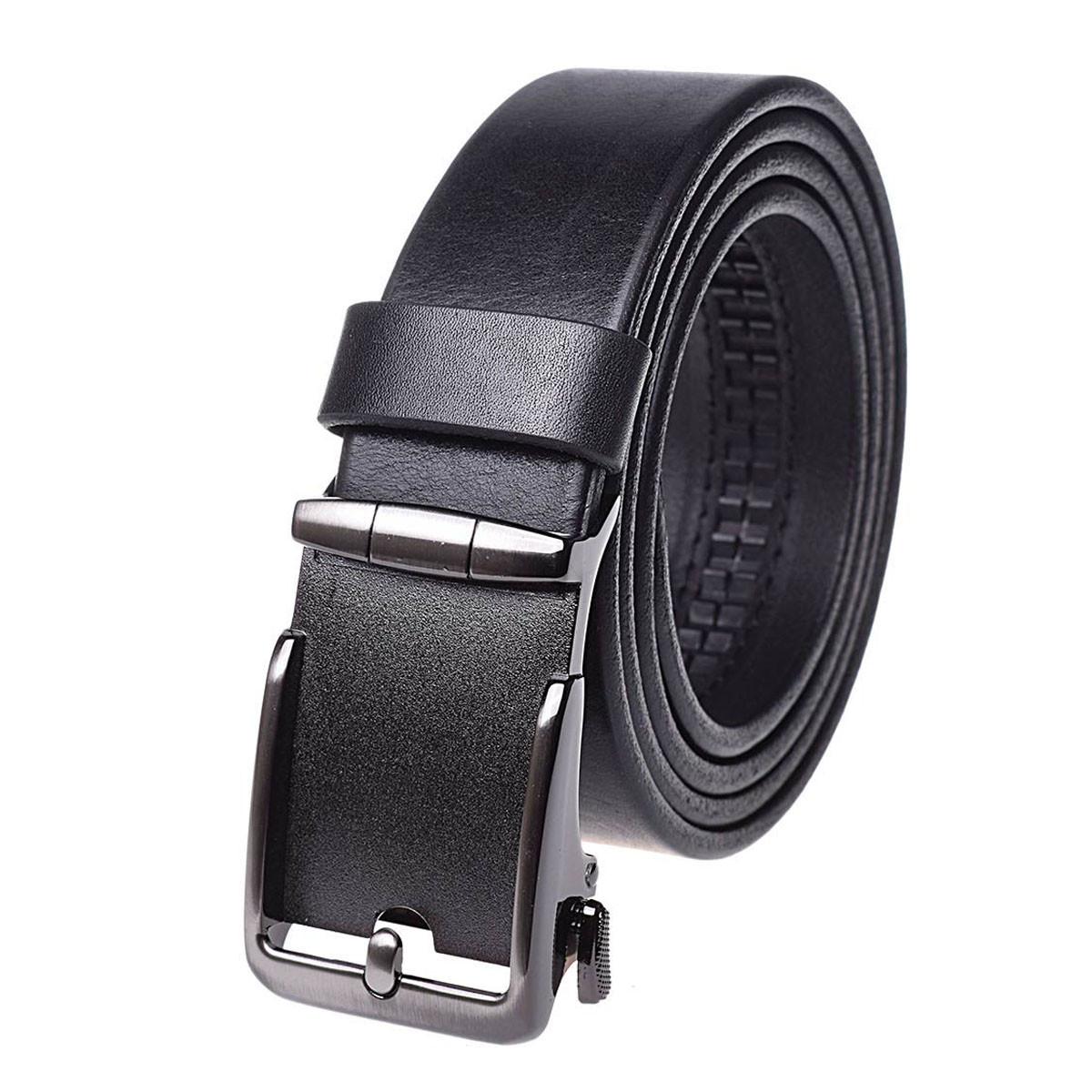 Натуральная кожаный мужской ремень JK Черный (MA352010106)