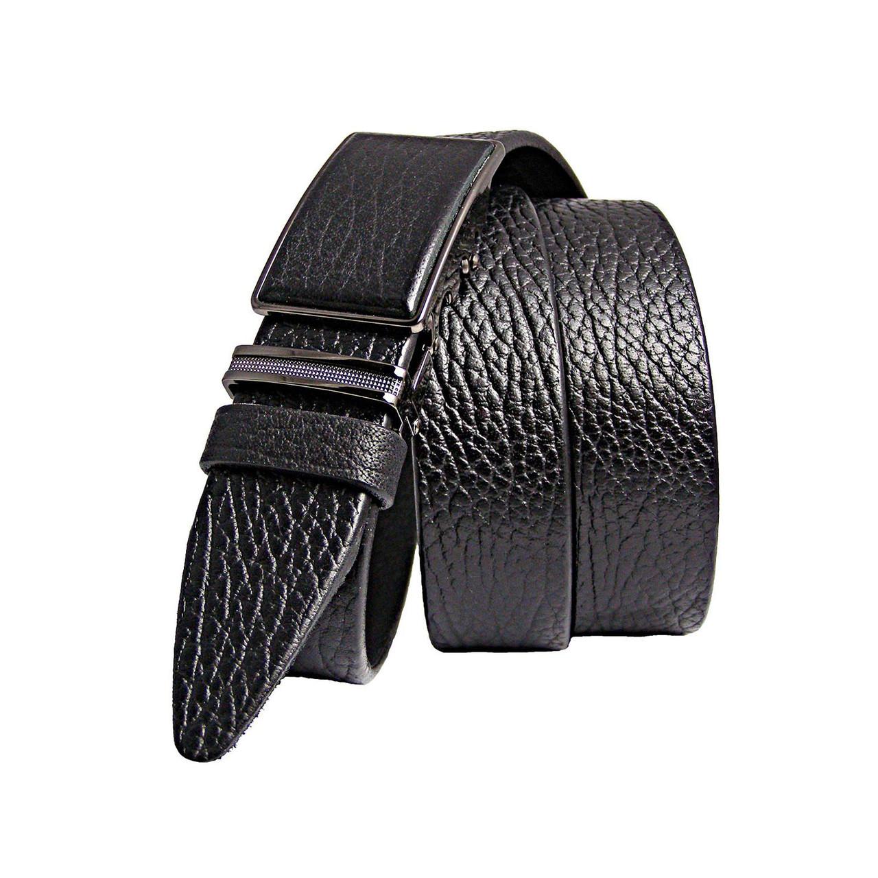 Натуральная кожаный мужской ремень JK Черный (MA352019150)