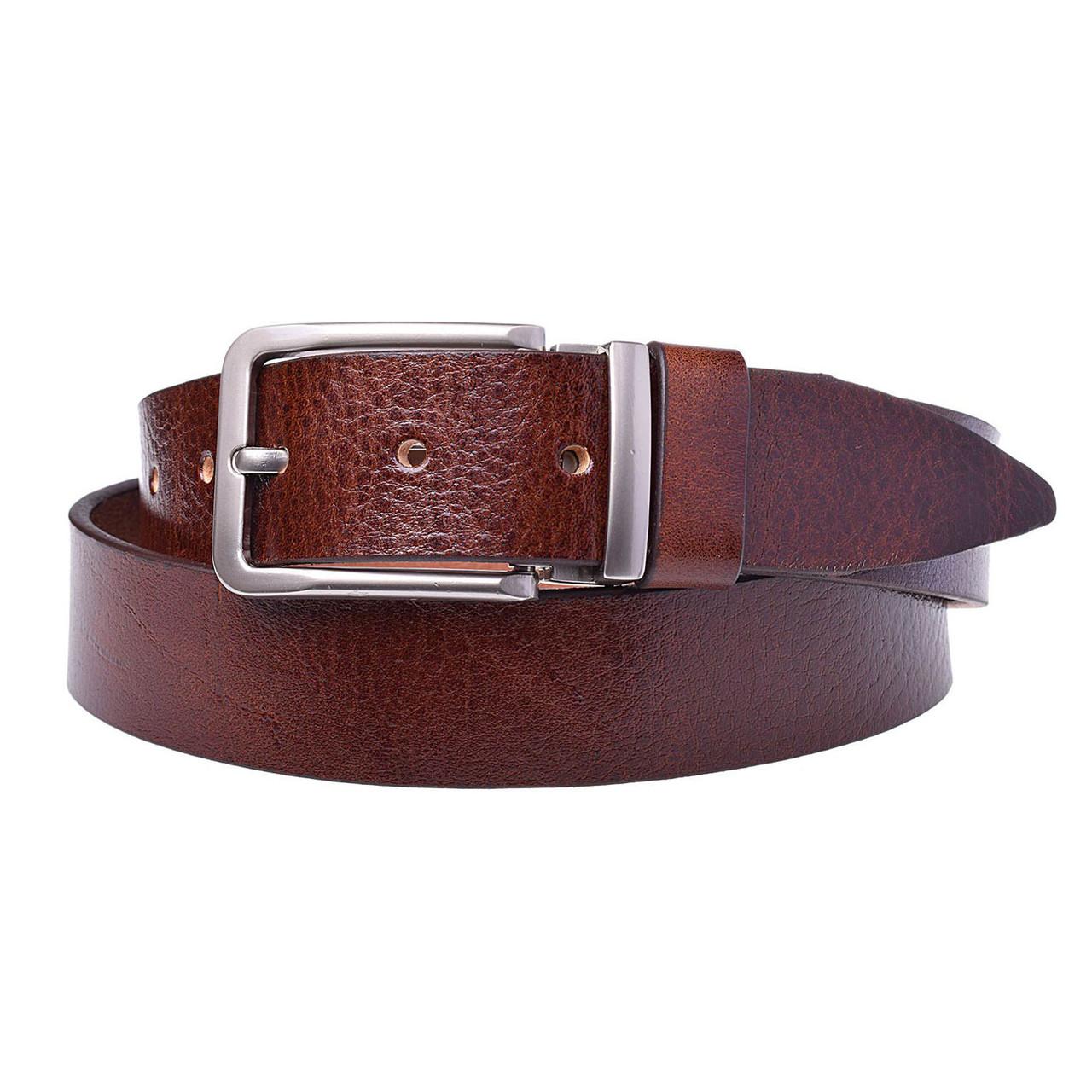 Натуральная кожаный мужской ремень JK Светло-коричневый (MC352040195)