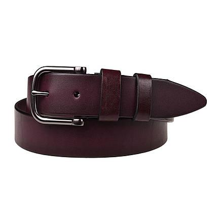 Натуральная кожаный мужской ремень JK Бордо (MC402090129), фото 2
