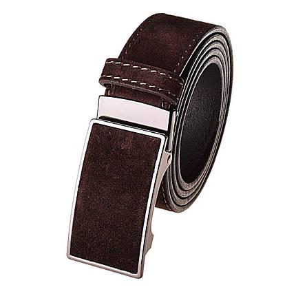 Натуральная кожаный мужской ремень JK Темно-коричневый (MZ354050101), фото 2