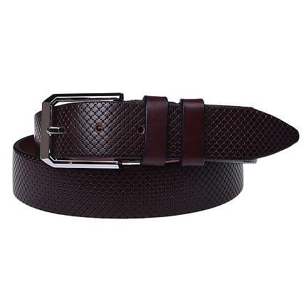 Натуральная кожаный мужской ремень JK Бордо (MC352097308), фото 2