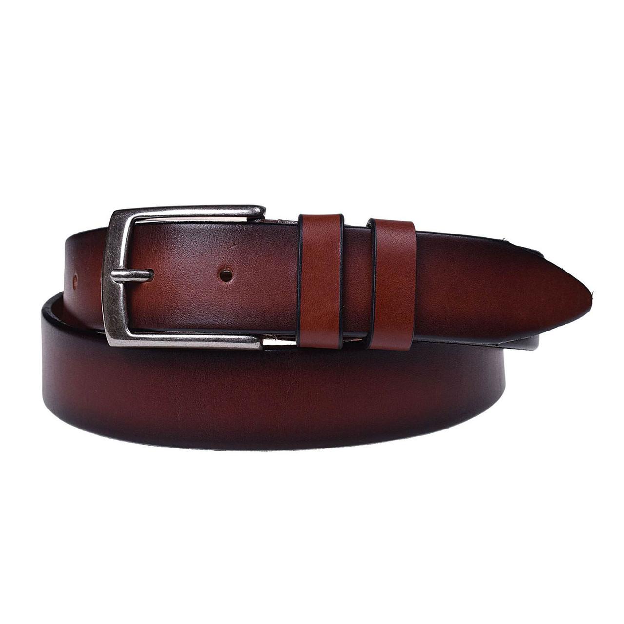 Натуральная кожаный мужской ремень JK Светло-коричневый (MC352040115)