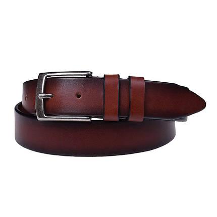 Натуральная кожаный мужской ремень JK Светло-коричневый (MC352040115), фото 2