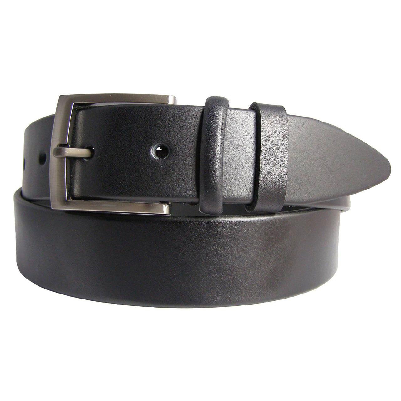 Натуральная кожаный мужской ремень JK Черный (MC401010103)