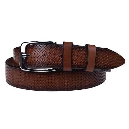 Натуральная кожаный мужской ремень JK Коричневый (MC352037301), фото 2