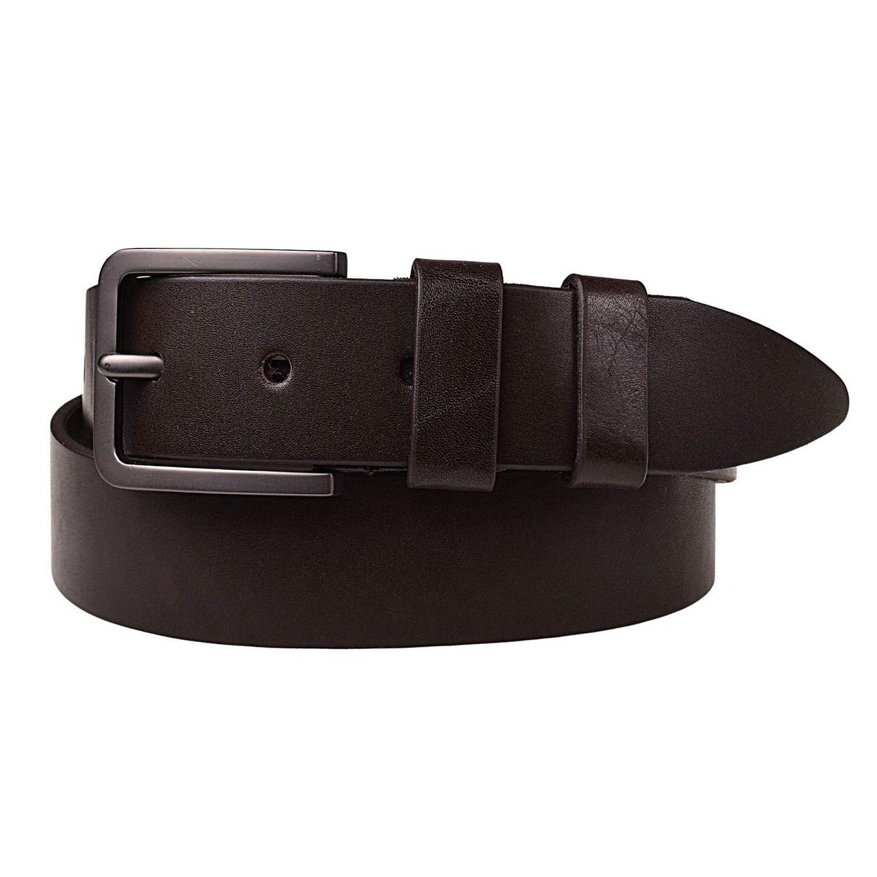 Натуральная кожаный мужской ремень JK Темно-коричневый (MC402050126)