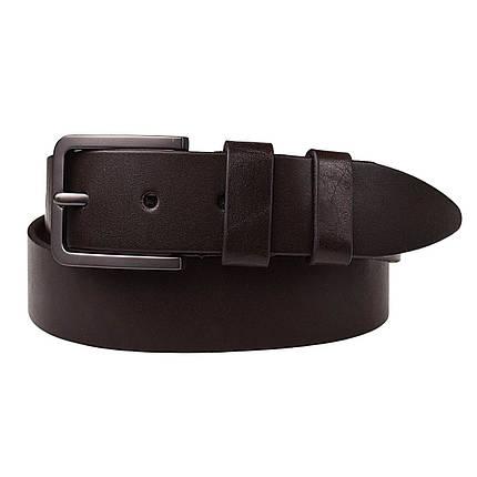 Натуральная кожаный мужской ремень JK Темно-коричневый (MC402050126), фото 2