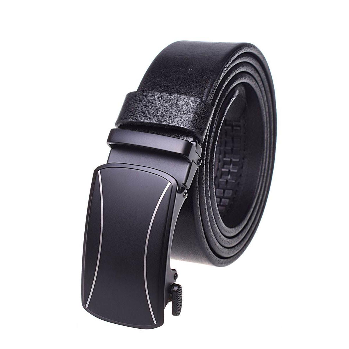 Натуральная кожаный мужской ремень JK Черный (MA352010124)