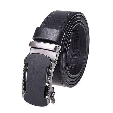 Натуральная кожаный мужской ремень JK Черный (MA352017519), фото 2