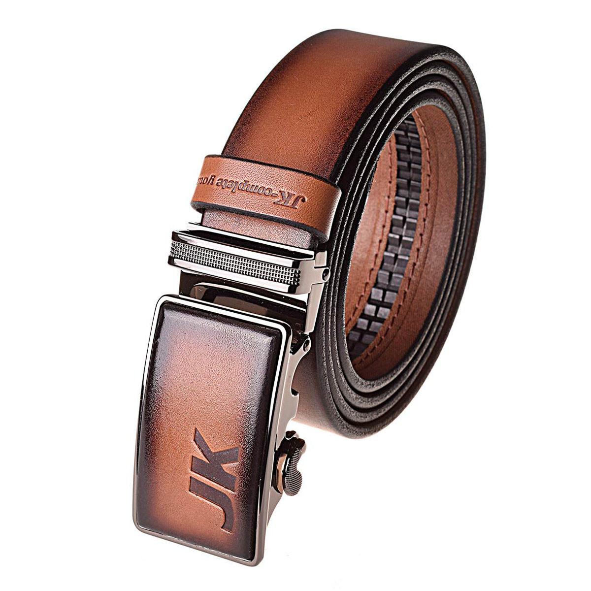 Натуральная кожаный мужской ремень JK Светло-коричневый (MA352040131)