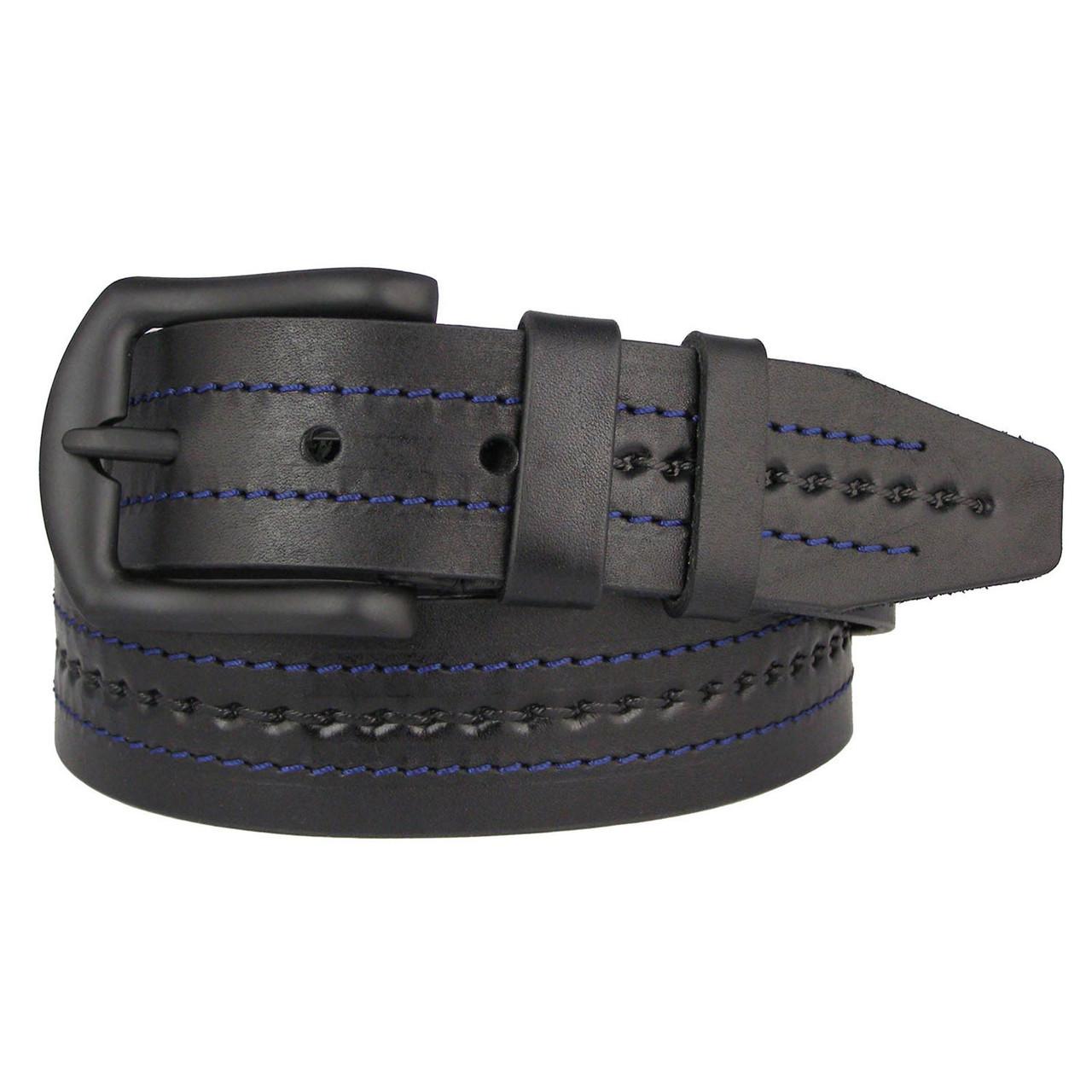 Натуральная кожаный мужской ремень JK Черный (MC451014125)