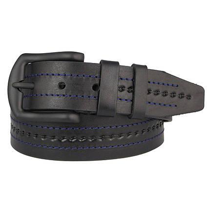 Натуральная кожаный мужской ремень JK Черный (MC451014125), фото 2