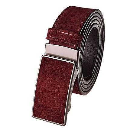 Натуральная кожаный мужской ремень JK Бордо (MZ354090101), фото 2