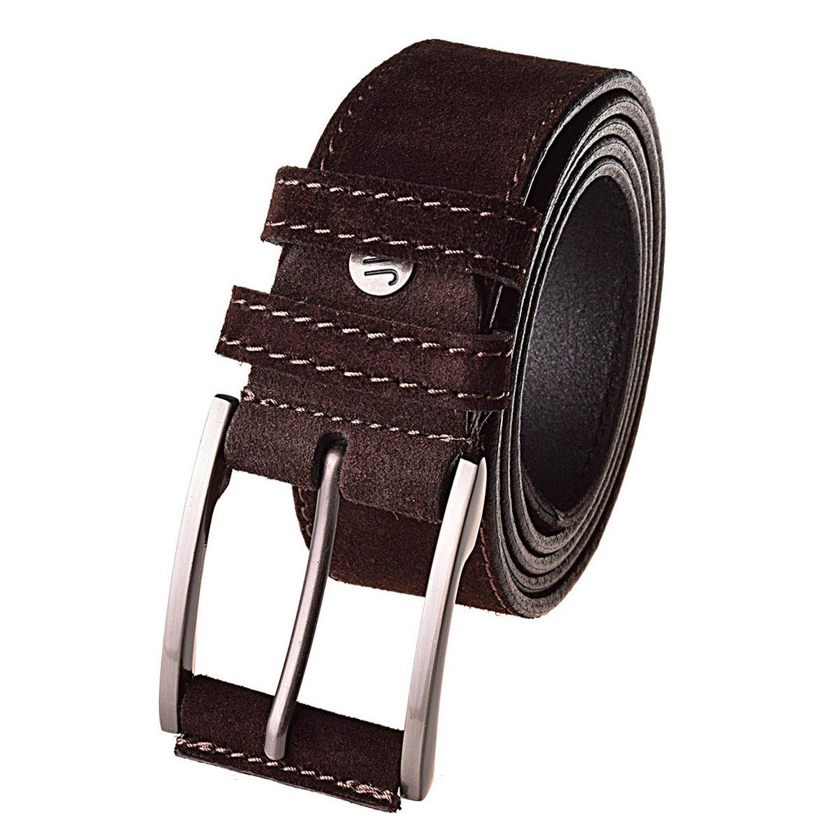 Натуральная кожаный мужской ремень JK Темно-коричневый (MC404050101)