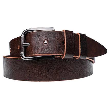 Натуральная кожаный мужской ремень JK Темно-коричневый (MC402050145), фото 2