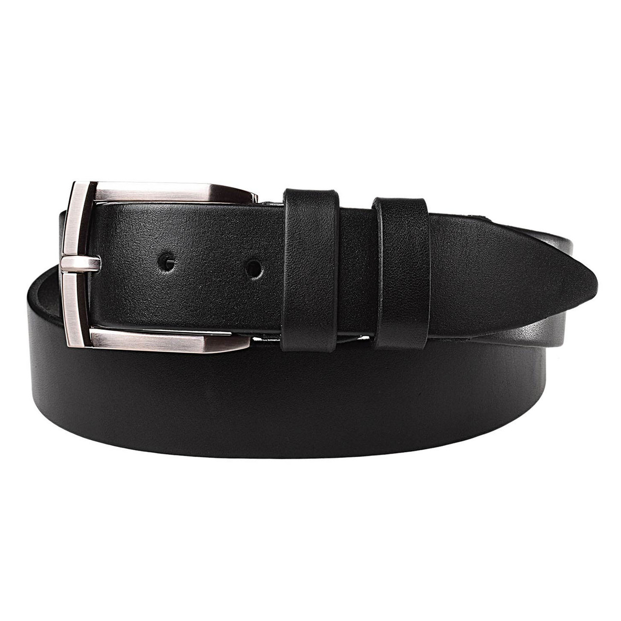 Натуральная кожаный мужской ремень JK Черный (MC352010109)