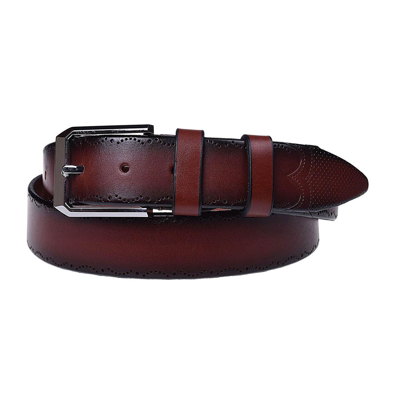 Натуральная кожаный мужской ремень JK Светло-коричневый (MC352047208)