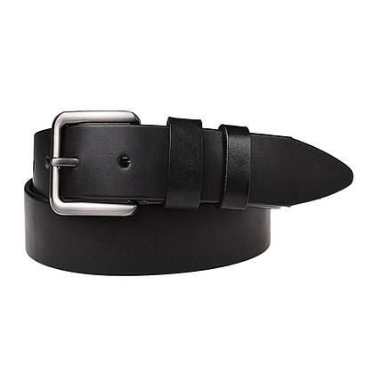 Натуральная кожаный мужской ремень JK Черный (MC402010112), фото 2