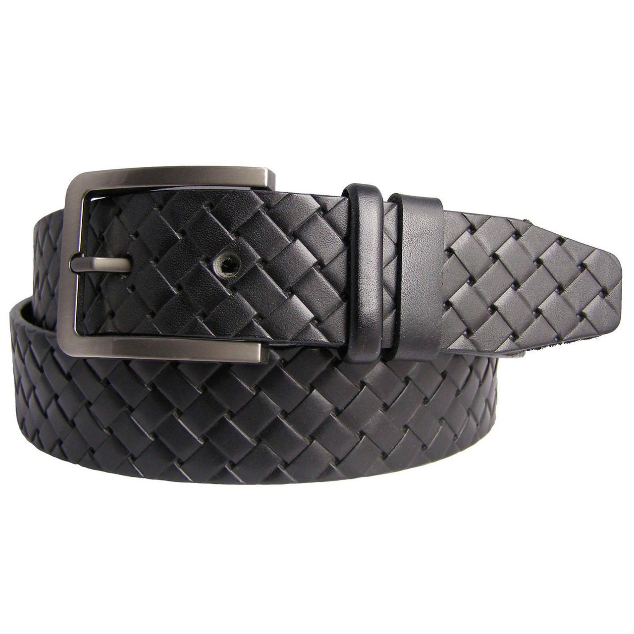 Натуральная кожаный мужской ремень JK Черный (MC401011701)