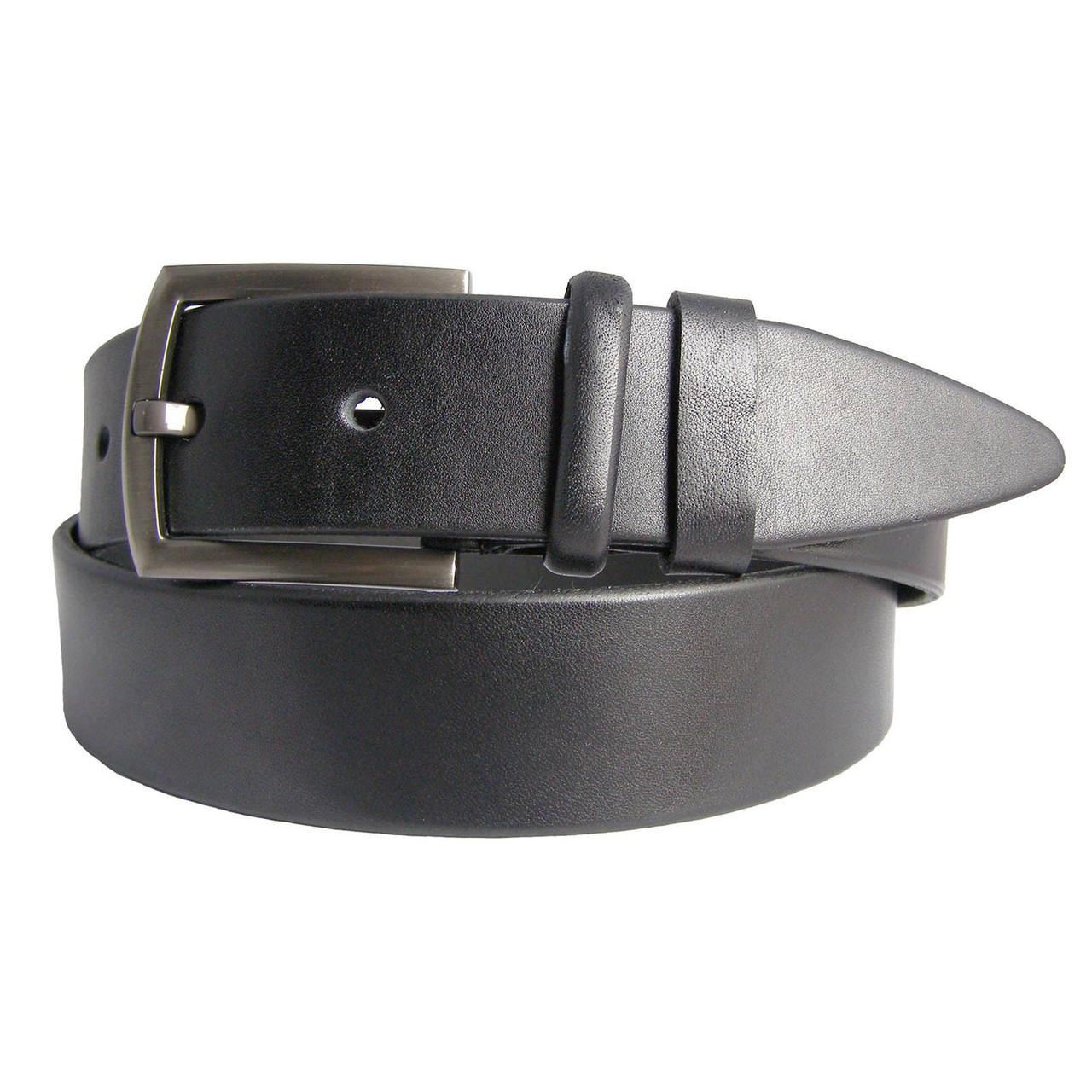 Натуральная кожаный мужской ремень JK Черный (MC401010102)