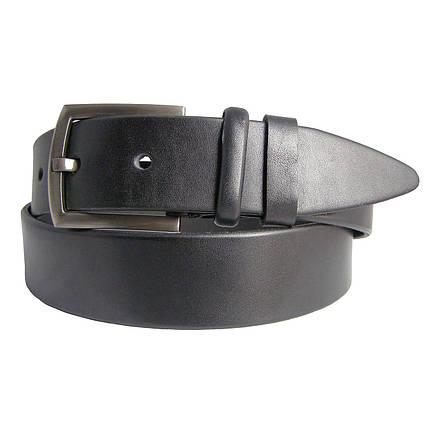 Натуральная кожаный мужской ремень JK Черный (MC401010102), фото 2