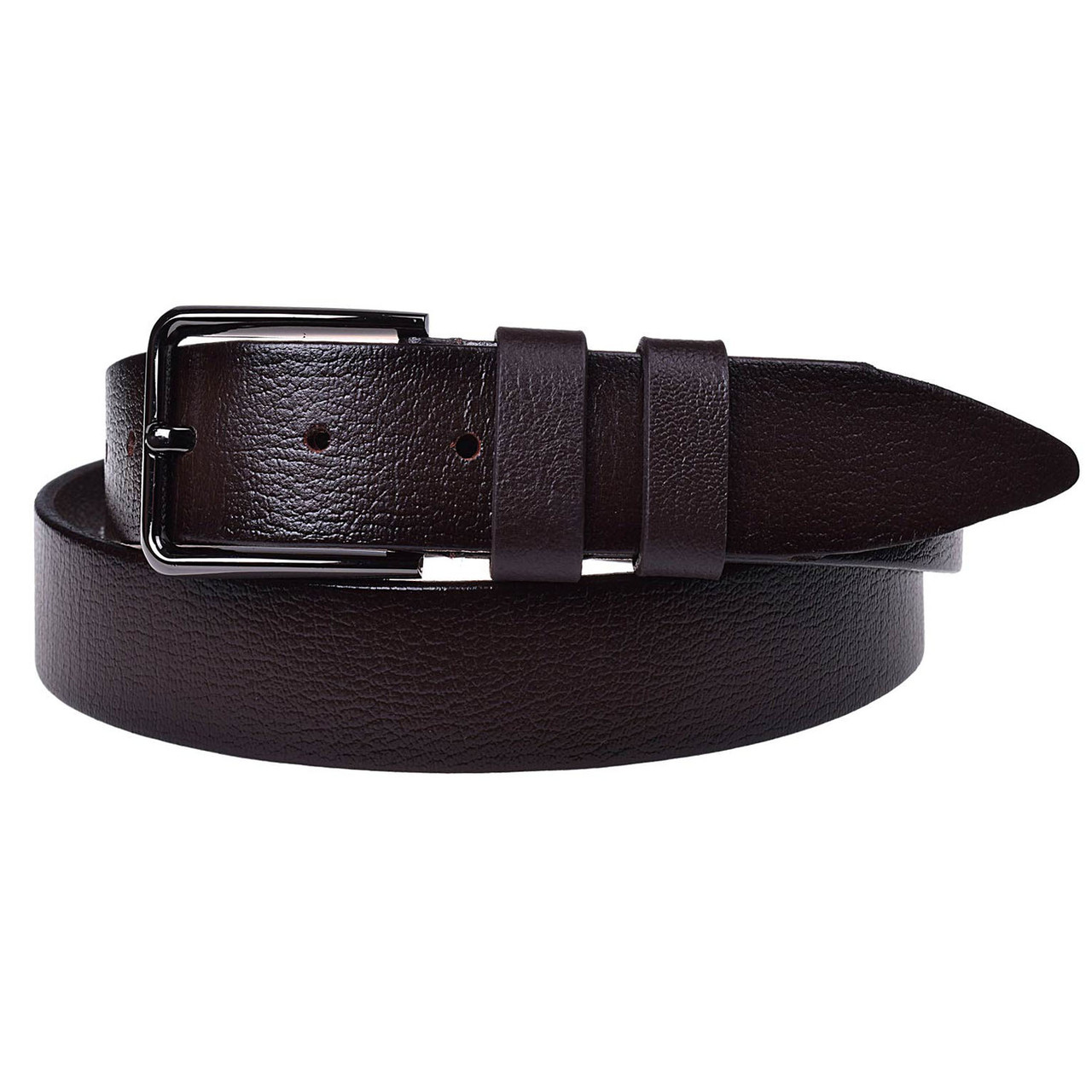 Натуральная кожаный мужской ремень JK Темно-коричневый (MC352050126)
