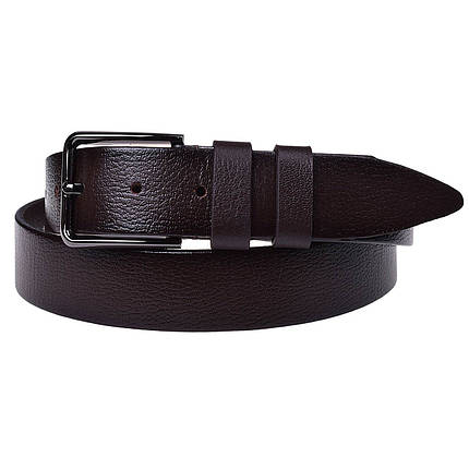 Натуральная кожаный мужской ремень JK Темно-коричневый (MC352050126), фото 2