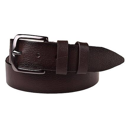 Натуральная кожаный мужской ремень JK Темно-коричневый (MC352058106), фото 2