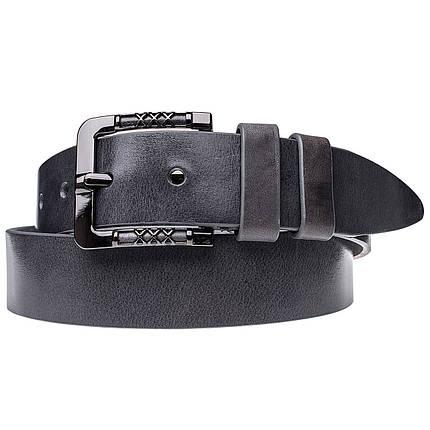 Натуральная кожаный мужской ремень JK Серый (MC402100149), фото 2