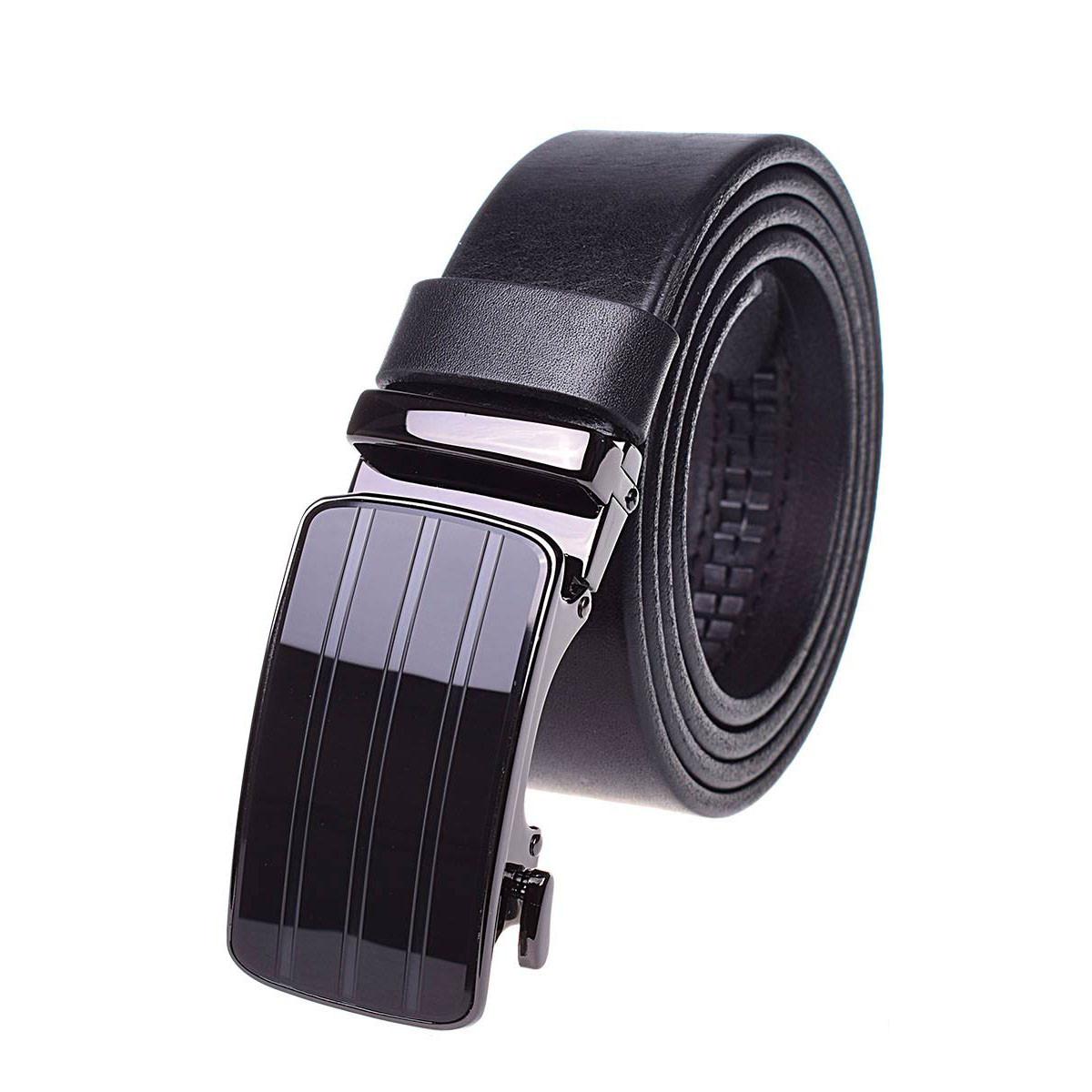 Натуральная кожаный мужской ремень JK Черный (MA352010130)