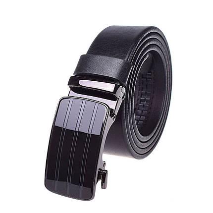 Натуральная кожаный мужской ремень JK Черный (MA352010130), фото 2