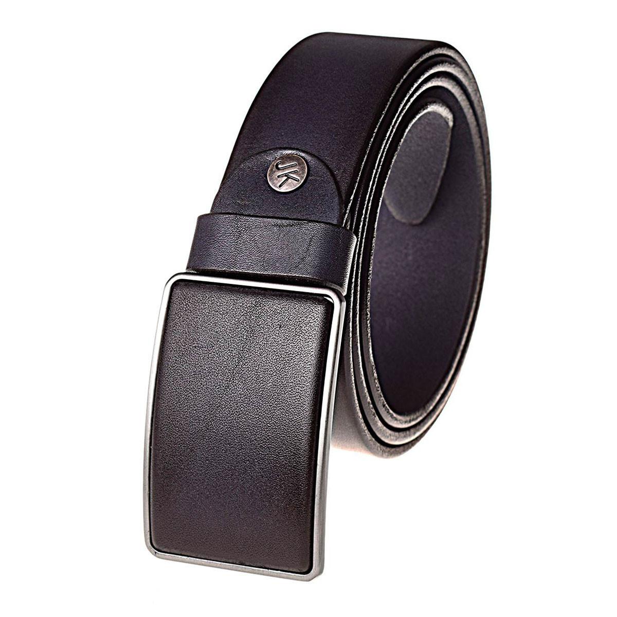 Натуральная кожаный мужской ремень JK Синий (MG402020110)