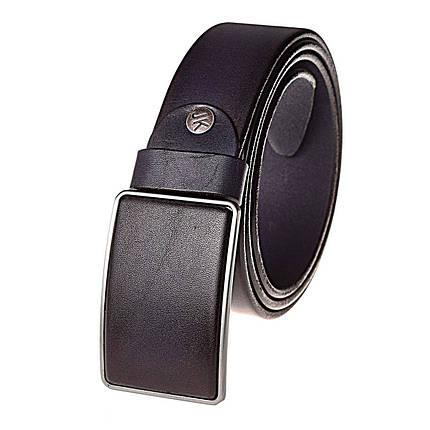 Натуральная кожаный мужской ремень JK Синий (MG402020110), фото 2