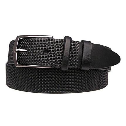 Натуральная кожаный мужской ремень JK Черный (MC351011202), фото 2