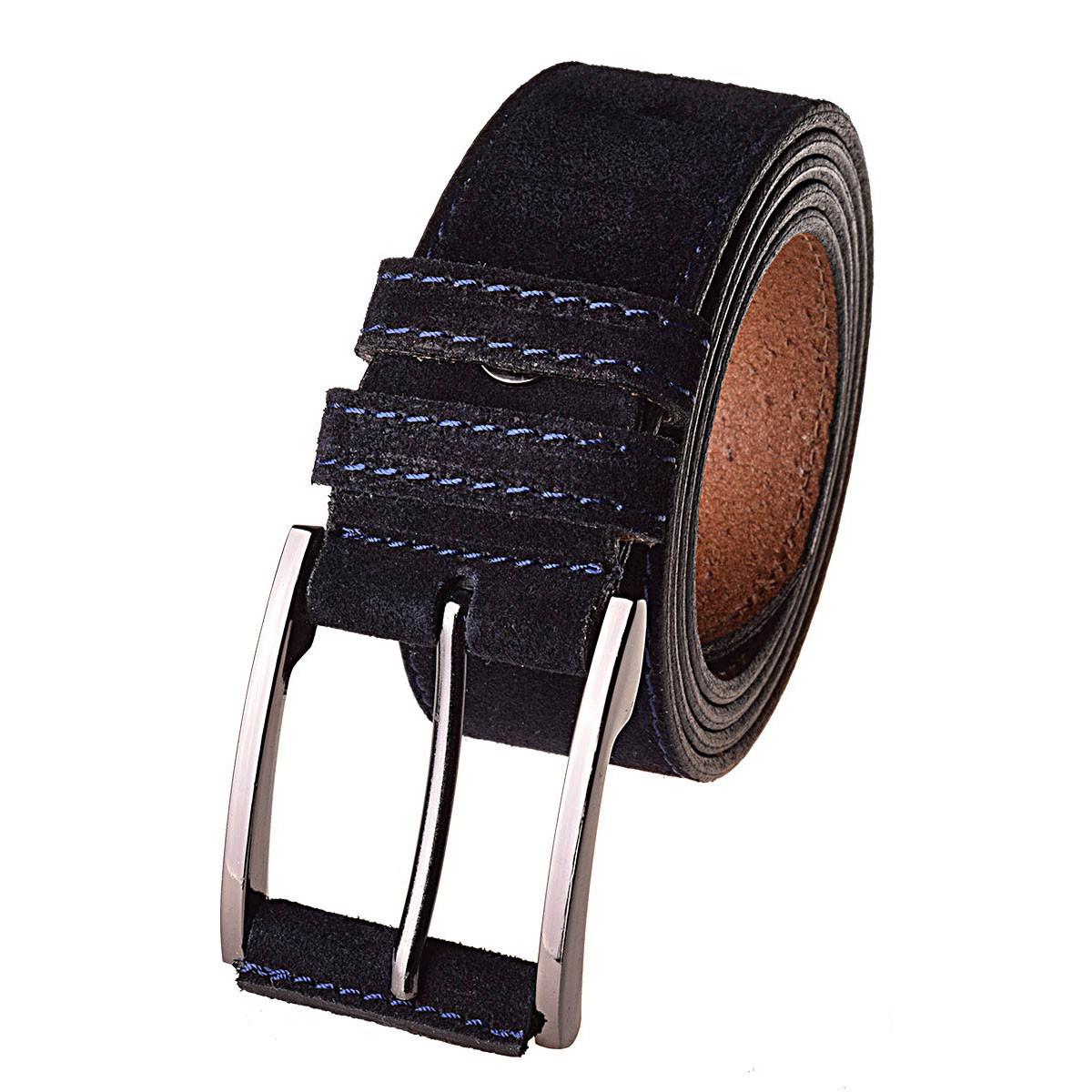 Натуральная кожаный мужской ремень JK Синий (MC404020101)