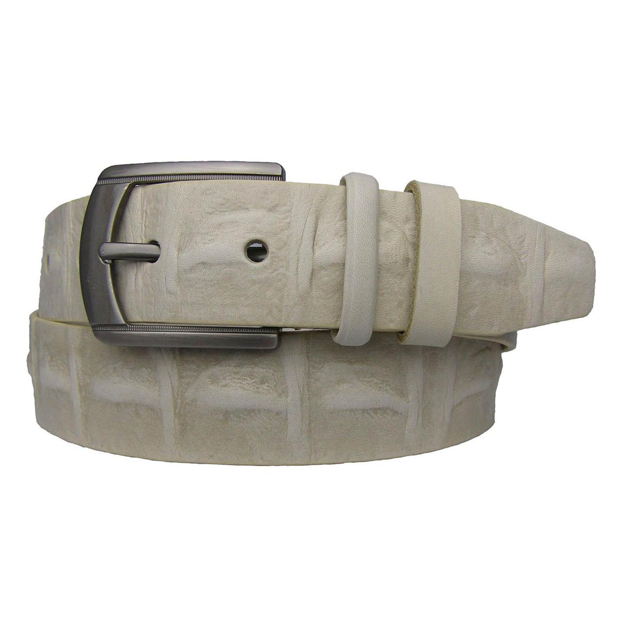 Натуральная кожаный мужской ремень JK бежевый (MC401163504)