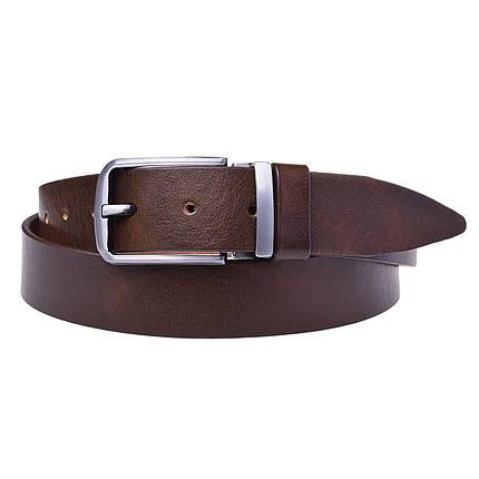 Натуральная кожаный мужской ремень JK Коричневый (MC352030190), фото 2