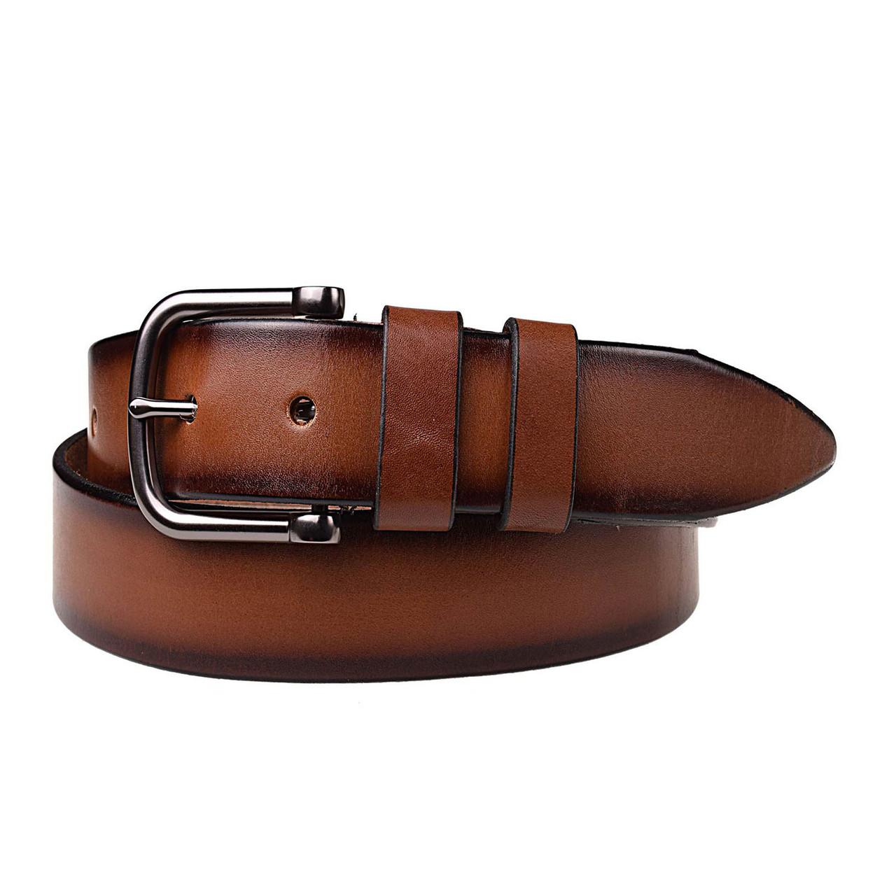Натуральная кожаный мужской ремень JK Светло-коричневый (MC402040129)