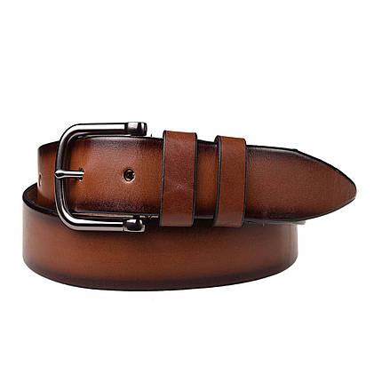 Натуральная кожаный мужской ремень JK Светло-коричневый (MC402040129), фото 2