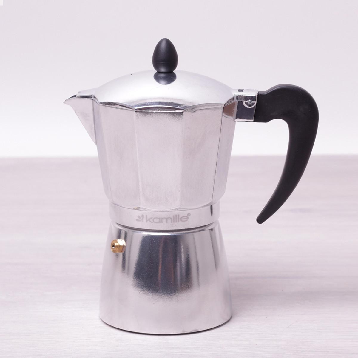 Кофеварка гейзерная Kamille 300мл из алюминия