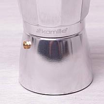 Кофеварка гейзерная Kamille 300мл из алюминия, фото 2