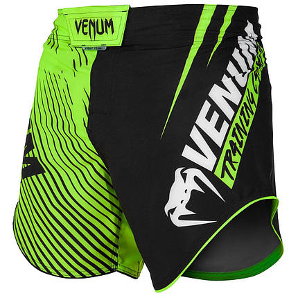 Шорты для MMA Venum Training Camp Fightshorts Black Neo Yellow, фото 2