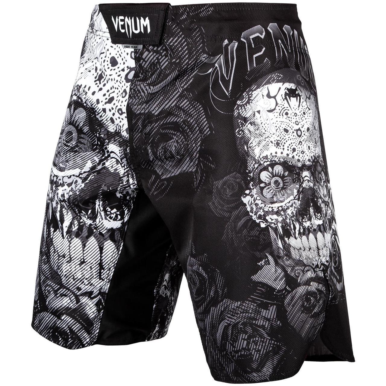 Шорти для MMA Venum Santa Muerte 3.0 Fightshorts Black White