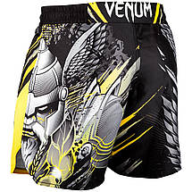Шорты для MMA Venum Viking 2.0 Fightshort Black Yellow, фото 2