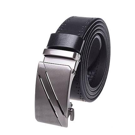 Натуральная кожаный мужской ремень JK Черный (MA352017513), фото 2