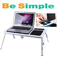 Столик трансформер для ноутбука Ergonomic Leptop Desk E-Table A8 с куллером, подставка для ноутбука